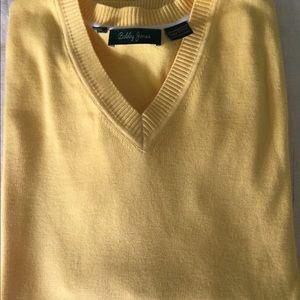 Bobby Jones yellow sweater.